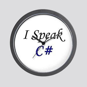 """I Speak C#"" Wall Clock"