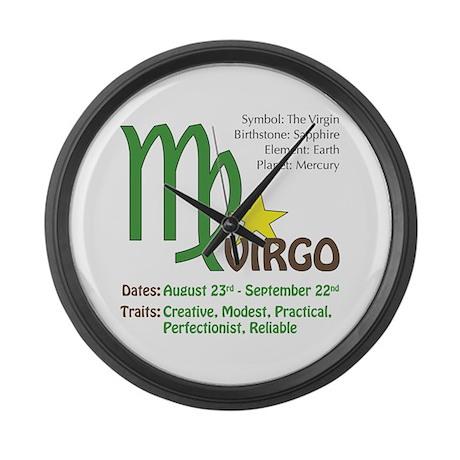 Virgo Traits Large Wall Clock