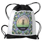 Disc Golf Mandala Drawstring Bag
