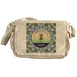 Disc Golf Mandala Messenger Bag