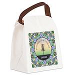 Disc Golf Mandala Canvas Lunch Bag