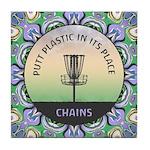 Disc Golf Mandala Tile Coaster