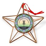 Disc Golf Mandala Copper Star Ornament