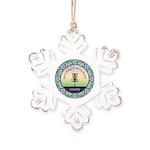 Disc Golf Mandala Rustic Snowflake Ornament