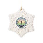 Disc Golf Mandala Snowflake Ornament