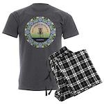 Disc Golf Mandala Men's Charcoal Pajamas