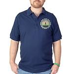 Disc Golf Mandala Dark Polo Shirt