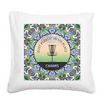 Disc Golf Mandala Square Canvas Pillow