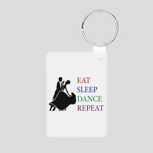 Eat Sleep Dance Aluminum Photo Keychain