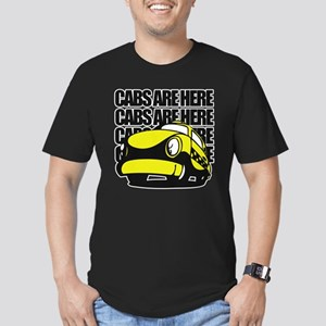 Cabs Are Here Men's Fitted T-Shirt (dark)