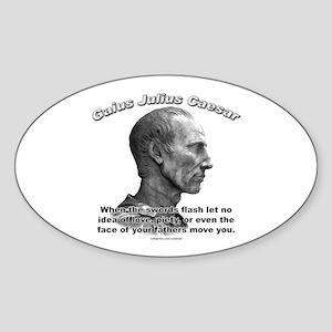 Julius Caesar 02 Oval Sticker