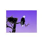 Sunset Bald Eagle 5'x7'Area Rug