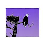 Sunset Bald Eagle Throw Blanket