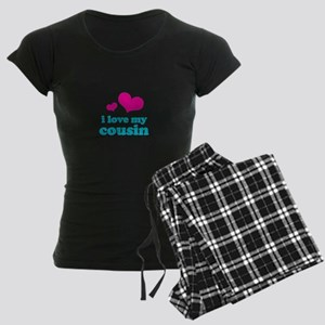 I Love My Cousin Women's Dark Pajamas