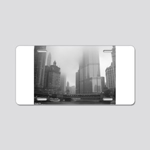 Chicago Rain Aluminum License Plate