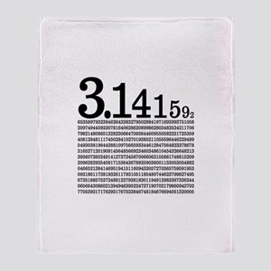 3.1415926 Pi Throw Blanket