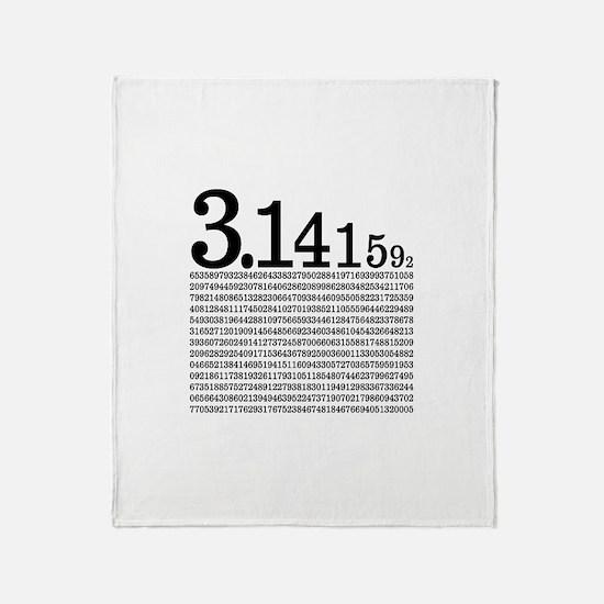 3.1415926 Pi Throw Blanket