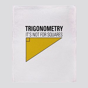 Trig Square Throw Blanket