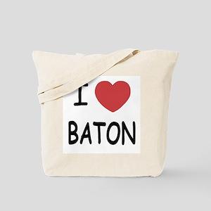 I heart baton Tote Bag