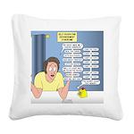 Self-Quarantine Derangement S Square Canvas Pillow