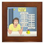 Self-Quarantine Derangement Syndrome Framed Tile