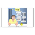 Self-Quarantine Derangem Sticker (Rectangle 10 pk)