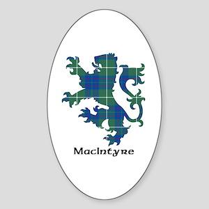 Lion-MacIntyre hunting Sticker (Oval)