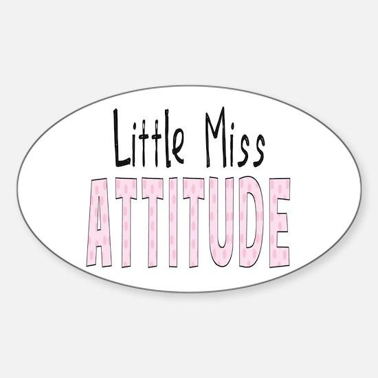 Little Miss Attitude Sticker (Oval)