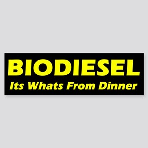BIODIESEL its whats from dinner (yellow)