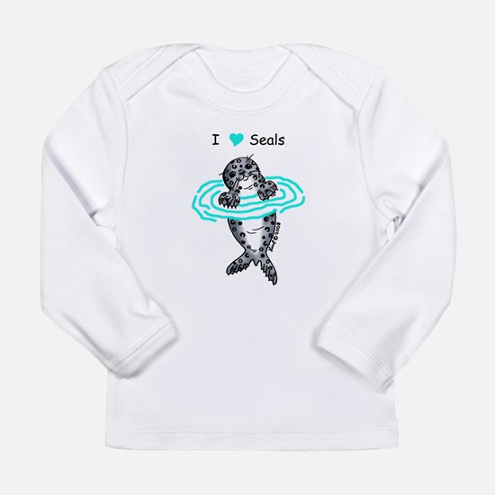 Harbor Seal Long Sleeve Infant T-Shirt