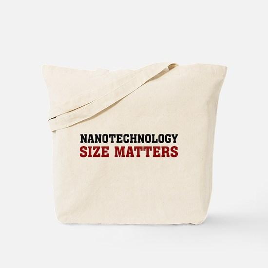 Nanotechnology Size Matters Tote Bag