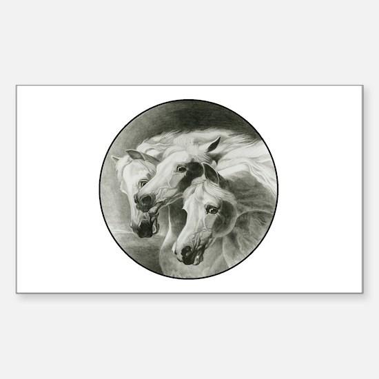 Pharaohs horses sticker rectangle