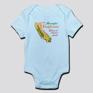 Visit Beautiful California Infant Bodysuit