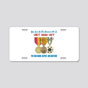 Presence of a Viet Nam Vet Aluminum License Plate