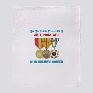 Presence of a Viet Nam Vet Throw Blanket