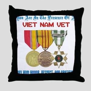 Presence of a Viet Nam Vet Throw Pillow