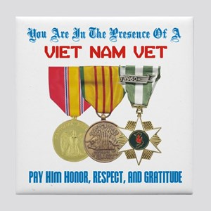 Presence of a Viet Nam Vet Tile Coaster