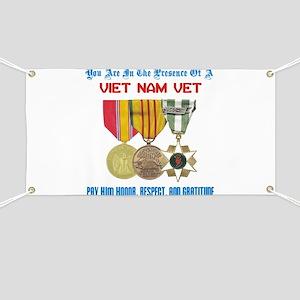 Presence of a Viet Nam Vet Banner
