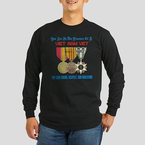 Presence of a Viet Nam Vet Long Sleeve Dark T-Shir