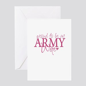 Proud to be an Army Wife Greeting Card