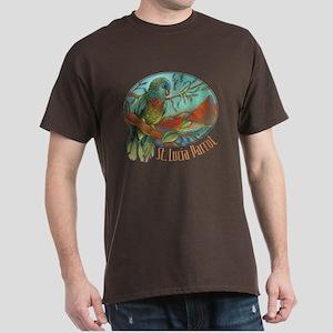 St Lucia Parrot Dark T-Shirt