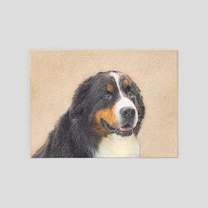 Bernese Mountain Dog 5'x7'Area Rug