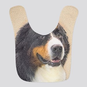 Bernese Mountain Dog Polyester Baby Bib