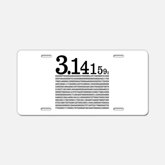 3.1415926 Pi Aluminum License Plate