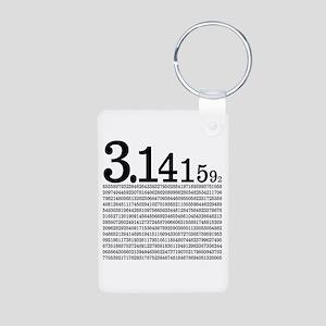 3.1415926 Pi Aluminum Photo Keychain