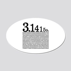 3.1415926 Pi 20x12 Oval Wall Decal