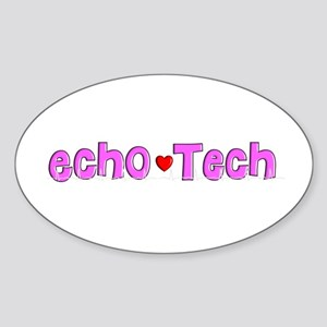 Cardiac Echo Tech Sticker (Oval)