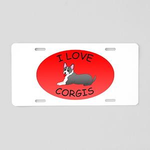 I Love Corgis Aluminum License Plate