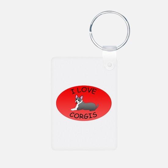 I Love Corgis Keychains