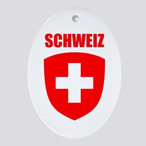 Schweiz Ornament (Oval)